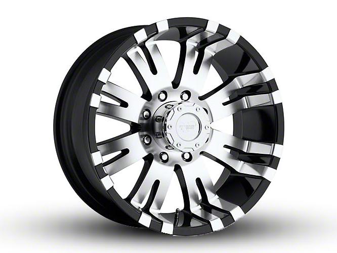 Pro Comp Series 8101 Gloss Black Machined 6-Lug Wheel - 17x9 (07-18 Sierra 1500)