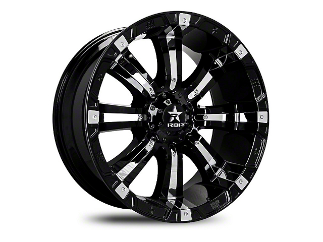 RBP 94R Black w/ Chrome Inserts 6-Lug Wheel - 22x12; -44mm Offset (07-19 Sierra 1500)
