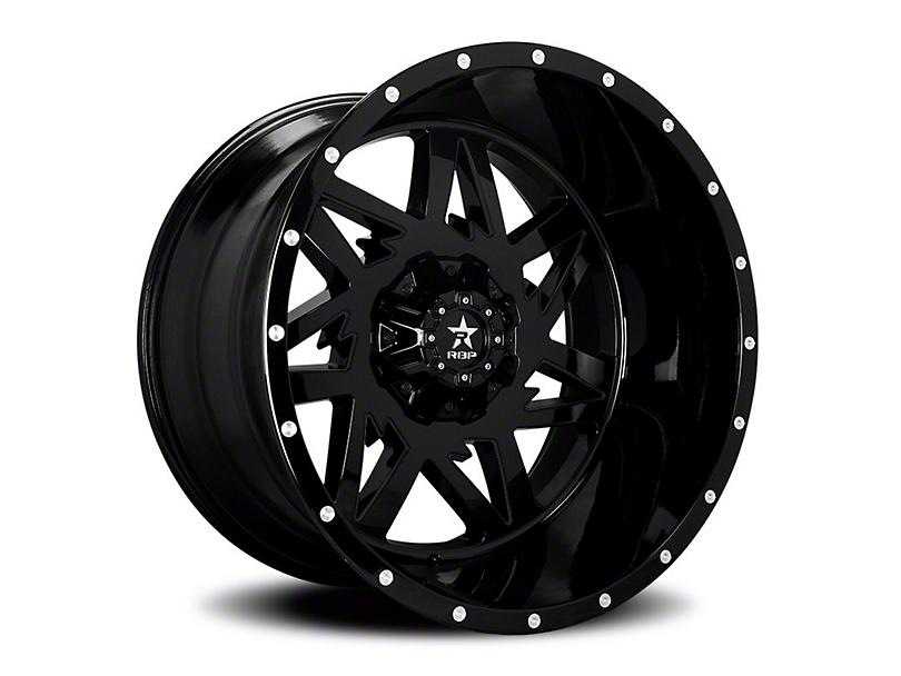 RBP 71R Avenger Gloss Black 6-Lug Wheel; 20x10 (07-20 Sierra 1500)