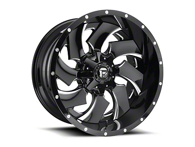 Fuel Wheels Cleaver Black Milled 6-Lug Wheel - 20x10 (07-18 Sierra 1500)