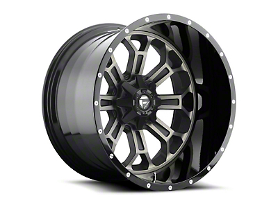 Fuel Wheels Crush Matte Black Machined 6-Lug Wheel - 22x14 (07-18 Sierra 1500)