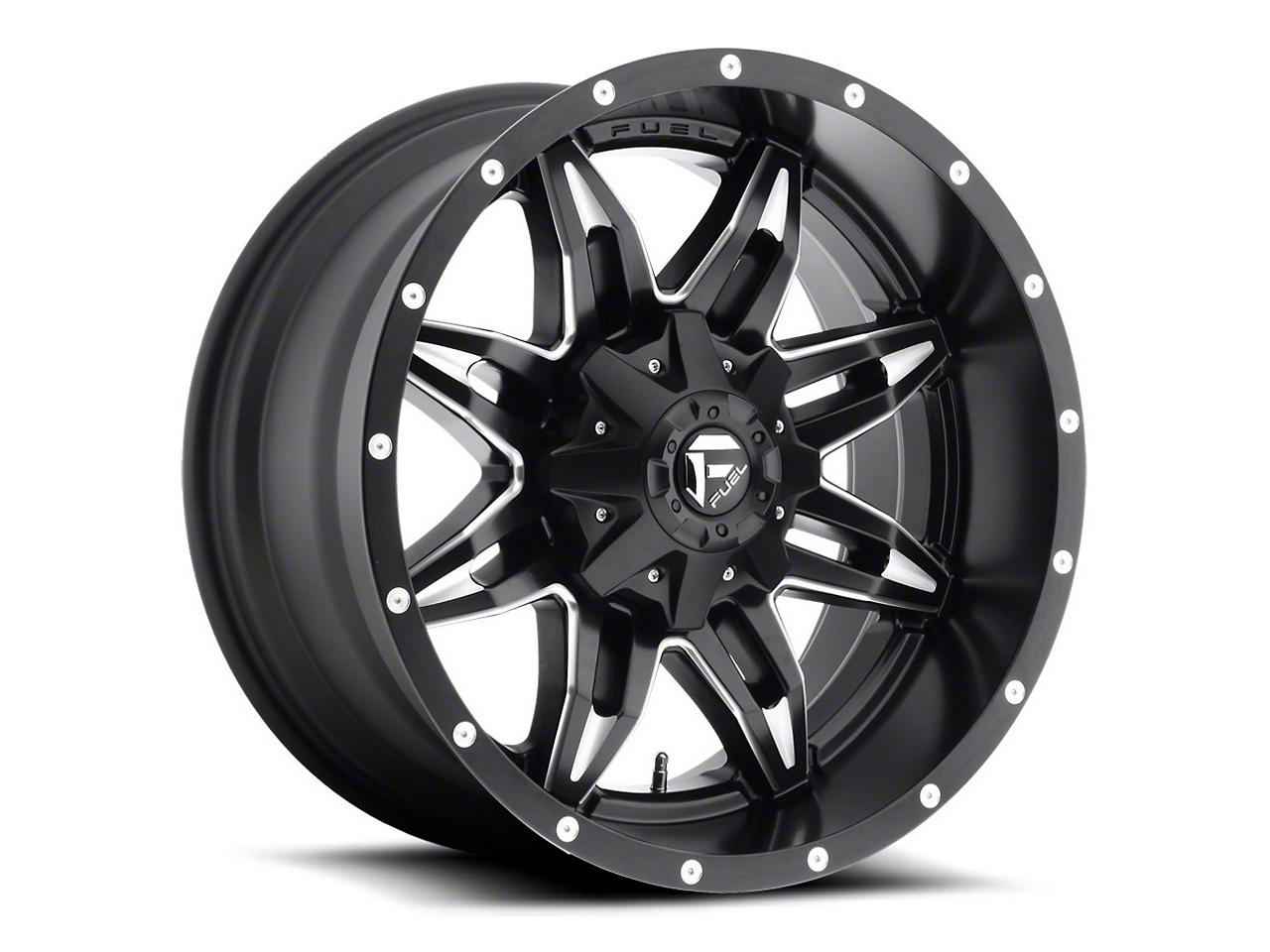 Fuel Wheels Lethal Black Milled 6-Lug Wheel - 20x9 (07-18 Sierra 1500)