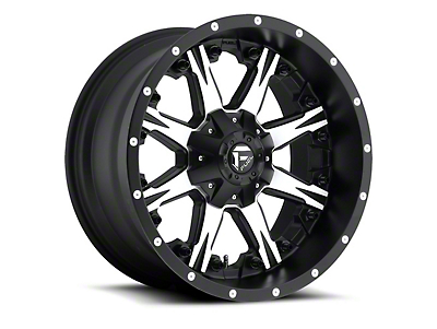 Fuel Wheels NUTZ Black Machined 6-Lug Wheel - 20x9 (07-18 Sierra 1500)
