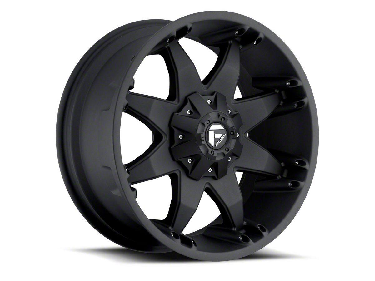 Fuel Wheels 20X9 >> Fuel Wheels Octane Matte Black 6 Lug Wheel 20x9 12mm Offset 07 20 Sierra 1500