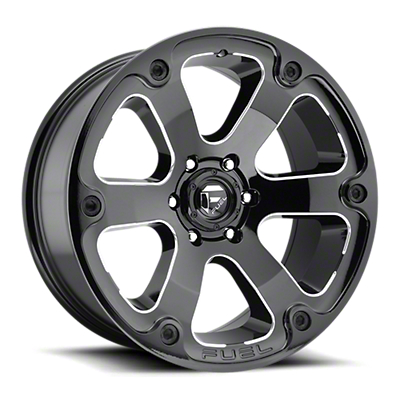 Fuel Wheels Beast Gloss Black Milled 6-Lug Wheel - 17x9 (07-18 Sierra 1500)