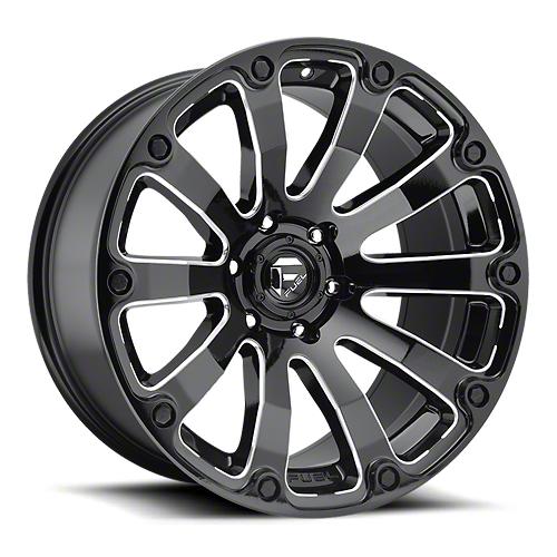 Fuel Wheels Diesel Gloss Black Milled 6-Lug Wheel - 17x9 (07-18 Sierra 1500)