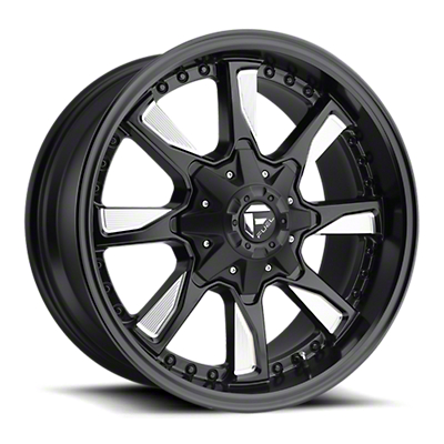 Fuel Wheels Hydro Matte Black Milled 6-Lug Wheel - 17x8.5 (07-18 Sierra 1500)