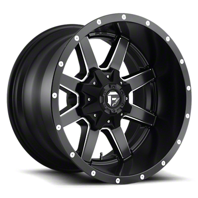Fuel Wheels Maverick Black Milled 6-Lug Wheel - 17x9 (07-18 Sierra 1500)
