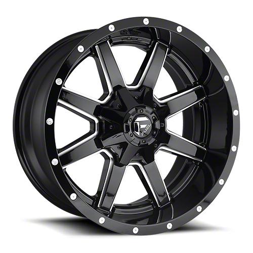 Fuel Wheels Maverick Gloss Black Milled 6-Lug Wheel - 17x9 (07-18 Sierra 1500)