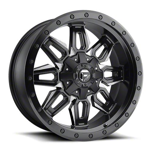 Fuel Wheels Neutron Matte Black Milled 6-Lug Wheel - 20x9 (07-18 Sierra 1500)