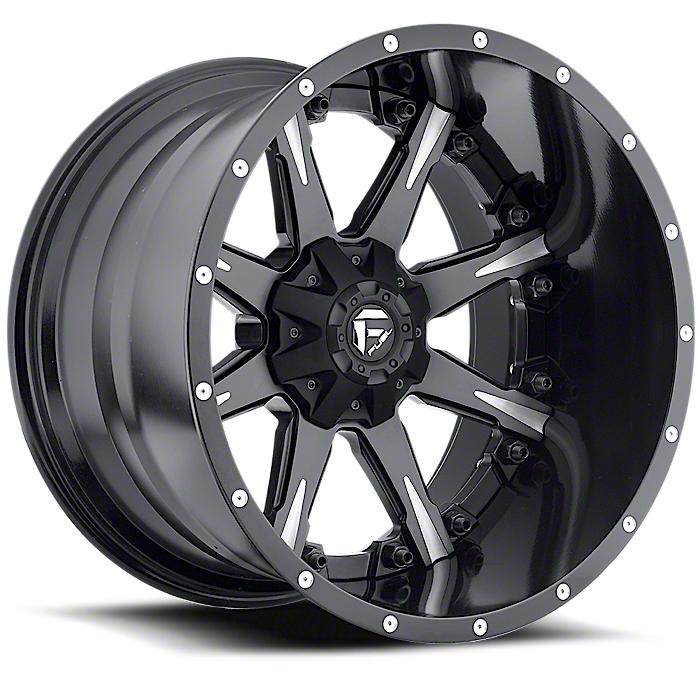 Fuel Wheels NUTZ Black Milled 6-Lug Wheel - 20x9 (07-18 Sierra 1500)