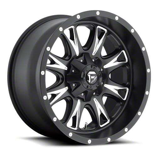 Fuel Wheels Throttle Black Milled 6-Lug Wheel - 20x10 (07-18 Sierra 1500)