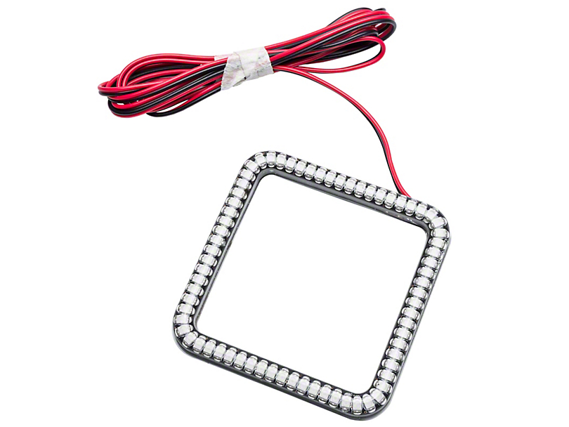 Oracle 3 in. Square Halo for Cube/Square Lights - Red (07-19 Sierra 1500)
