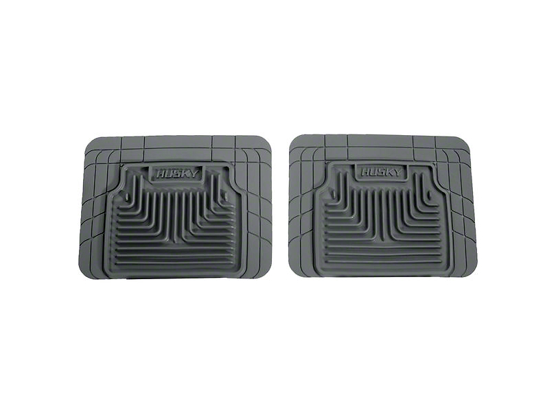 Husky Heavy Duty 2nd Seat Floor Mats - Gray (07-13 Sierra 1500 Extended Cab, Crew Cab)