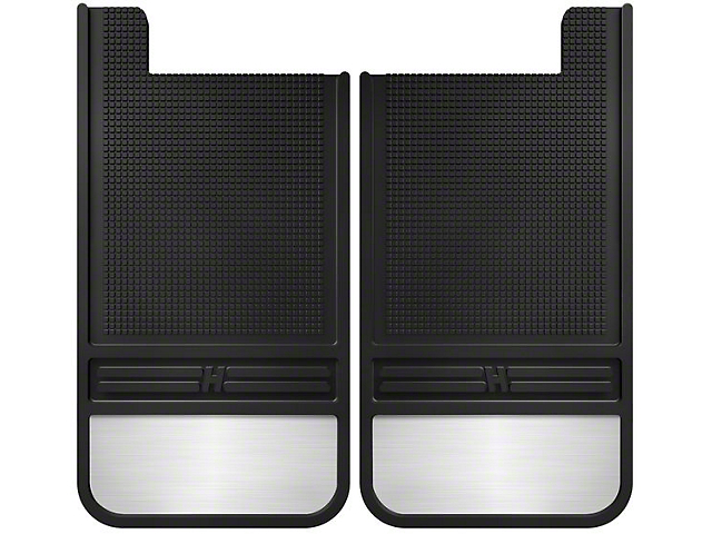 Husky MudDog Mud Flaps with Stainless Steel Weight; Rear (Universal Fitment)