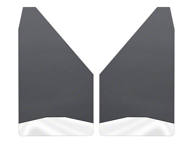 Husky 12-Inch Wide Mud Flaps; Front or Rear; Stainless Steel Weight (Universal Fitment)