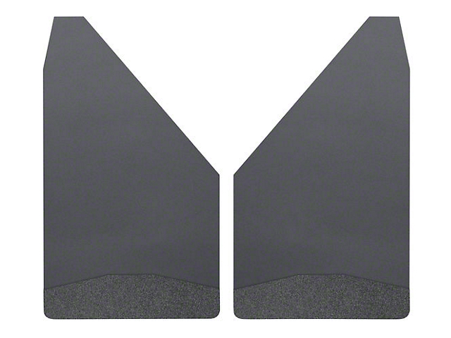 Husky 12-Inch Wide Mud Flaps; Front or Rear; Black Weight (Universal Fitment)