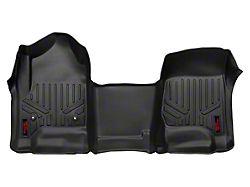 Rough Country Heavy Duty Front Floor Mats; Black (14-18 Sierra 1500)