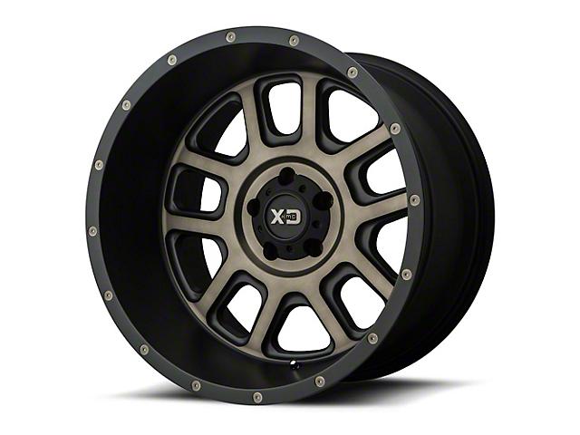 XD Delta Matte Black with Dark Tint 6-Lug Wheel; 22x14; -76mm Offset (14-18 Sierra 1500)
