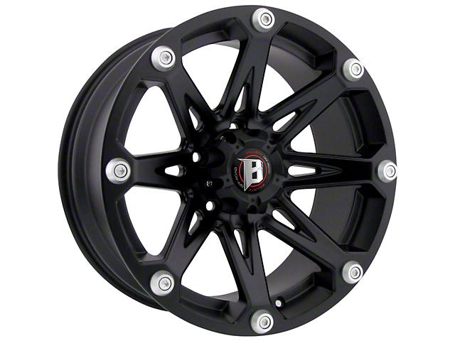 Ballistic Jester Flat Black 6-Lug Wheel; 20x9 (07-20 Sierra 1500)