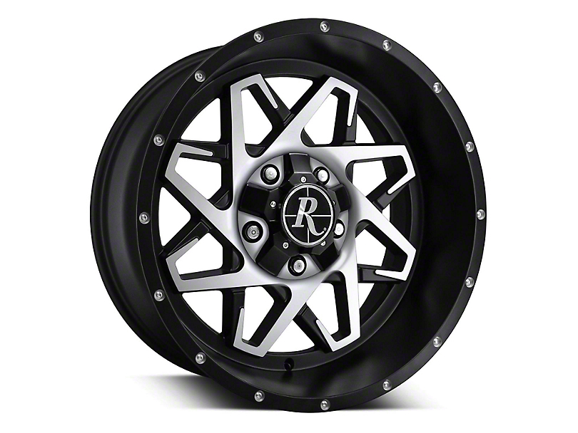 Remington Off-Road Caliber Satin Black Machined 6-Lug Wheel - 20x10 (07-19 Sierra 1500)