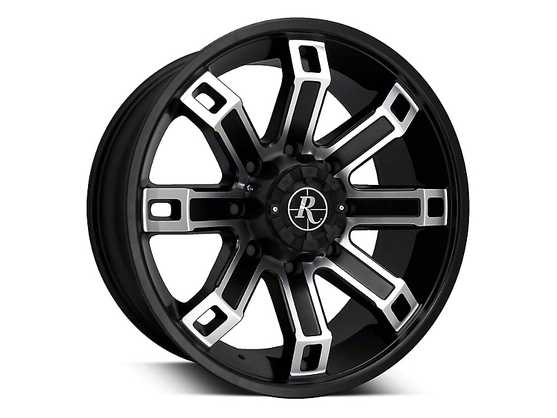 Remington Off-Road Hollow Point Satin Black Machined 6-Lug Wheel - 20x9 (07-19 Sierra 1500)