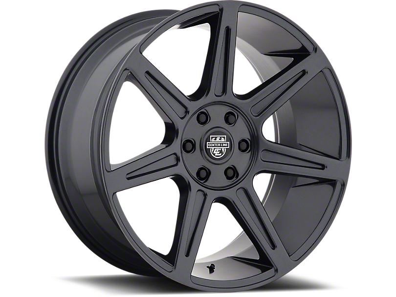 Center Line 841B Gloss Gunmetal 6-Lug Wheel - 24x10; 30mm Offset (07-19 Sierra 1500)