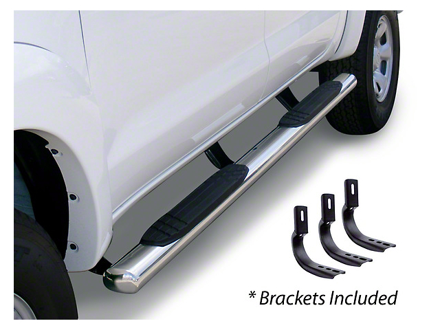 Go Rhino 4 in. OE Xtreme Side Step Bars - Stainless Steel (14-18 Sierra 1500 Crew Cab)