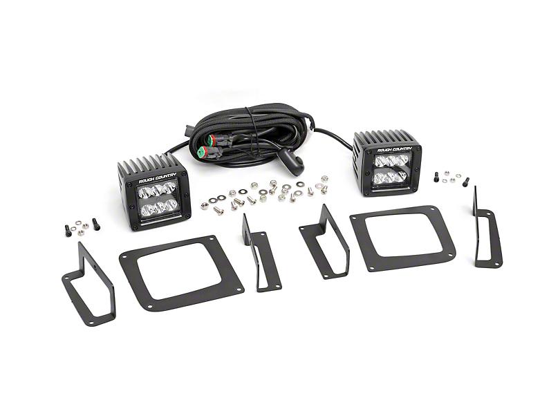 Rough Country Black Series LED Fog Light Kit (14-15 Sierra 1500)