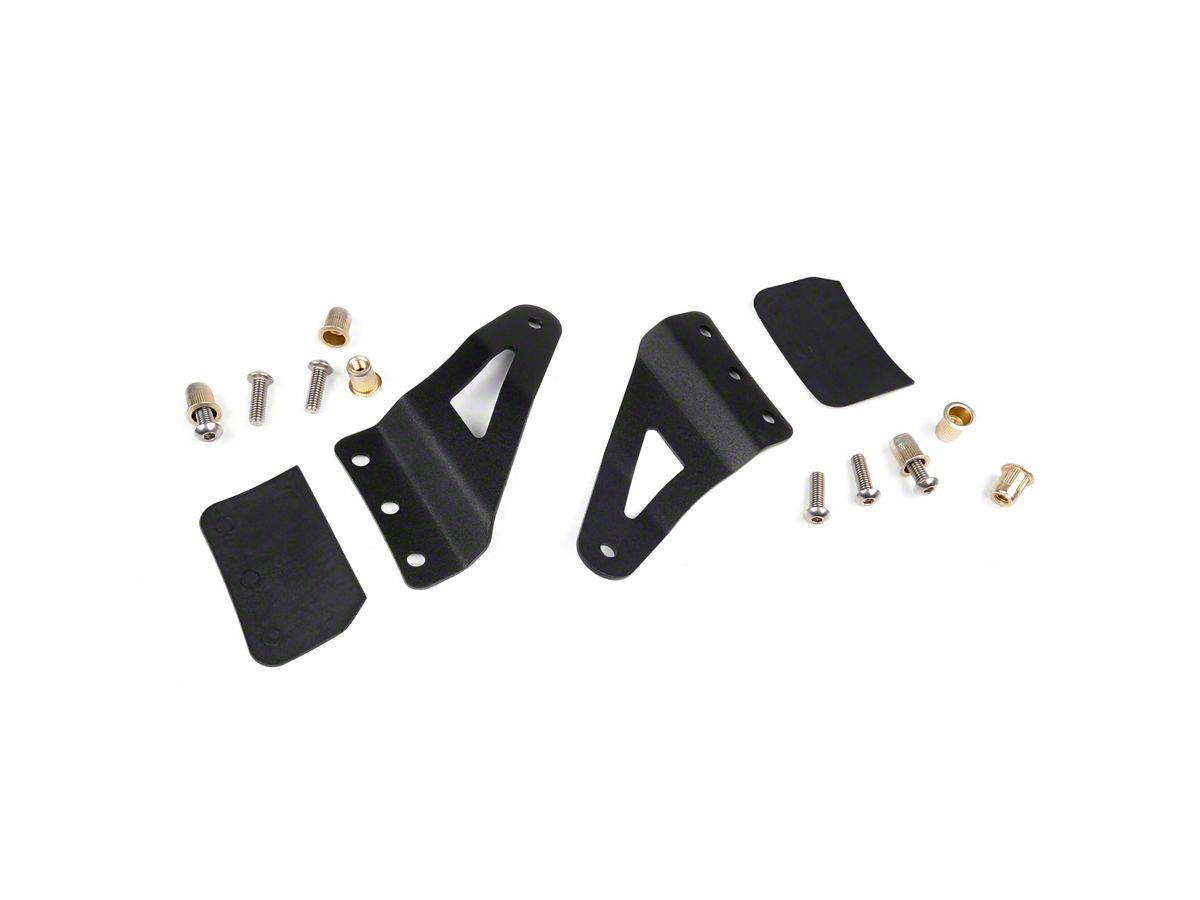 Rough Country 54 In Curved Led Light Bar Upper Windshield Mounting Brackets 07 13 Sierra 1500