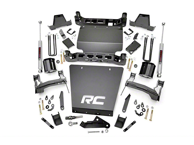 Rough Country 7 Inch Knuckle Suspension Lift Kit (14-17 4WD Sierra 1500 w/ Stamped Steel Control Arms)