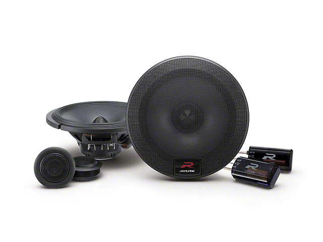 Alpine R-Series 6-1/2 in. Component 2-Way Speaker System - 100W (07-13 Sierra 1500)