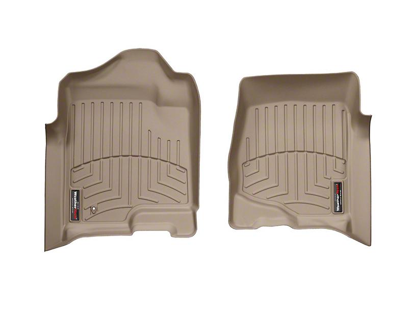 Weathertech DigitalFit Front & Rear Floor Liners - Tan (07-13 Sierra 1500 Crew Cab)