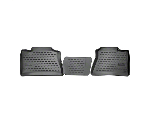 Profile 2nd Row Floor Mats - Black (14-18 Sierra 1500 Double Cab)