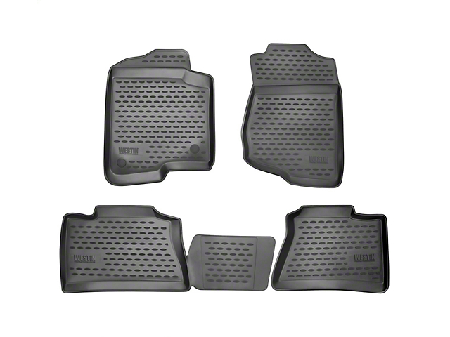 Profile Front & 2nd Row Floor Mats - Black (14-18 Sierra 1500 Double Cab)