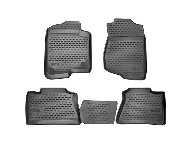 Westin Profile Front & 2nd Row Floor Mats - Black (14-18 Sierra 1500 Double Cab)