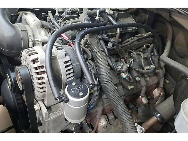 JLT 3.0 Satin Oil Separator; Driver Side (99-13 V8 Sierra 1500)
