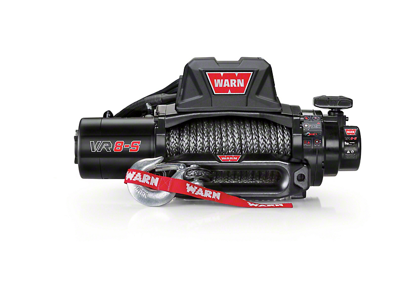WARN VR8-S 8,000 lb. Winch w/ Synthetic Rope