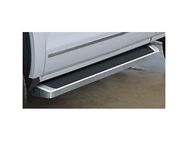 6-Inch iRunning Boards; Polished (07-18 Sierra 1500 Extended/Double Cab)