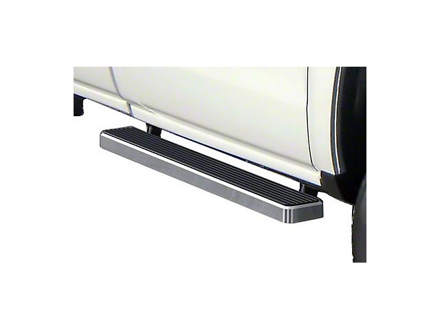 5-Inch iStep Running Boards; Hairline Silver (07-18 Sierra 1500 Regular Cab)
