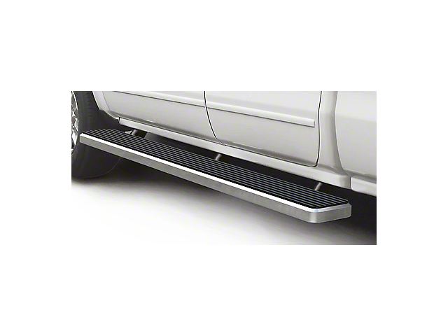6-Inch iStep Running Boards; Hairline Silver (07-18 Sierra 1500 Extended/Double Cab)