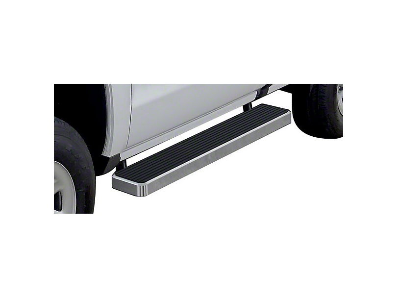 6 in. iStep Running Boards - Hairline Silver (07-18 Sierra 1500 Regular Cab)