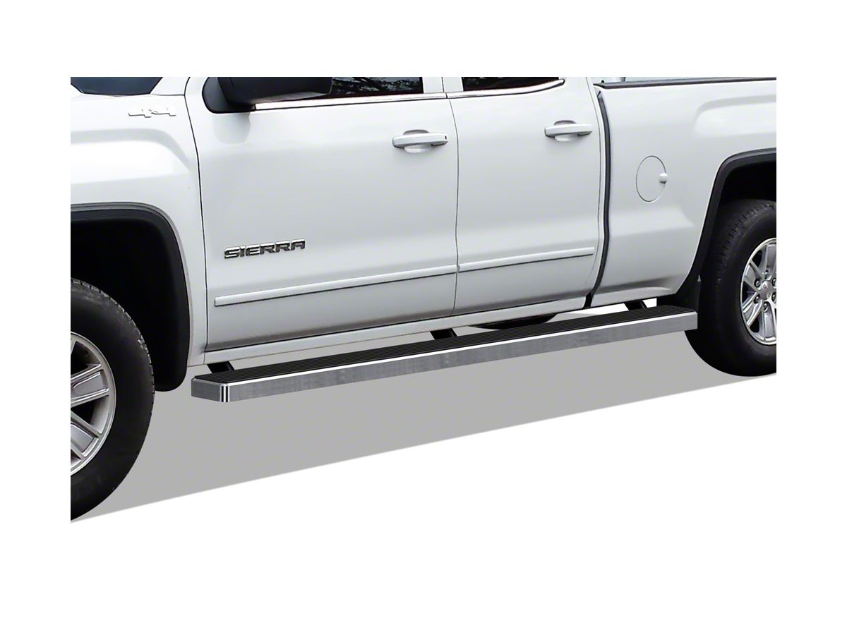 Wheel To Wheel Running Boards >> 5 In Istep Wheel To Wheel Running Boards Hairline Silver 07 18 Sierra 1500 Extended Double Cab