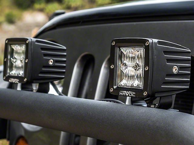Havoc Offroad Trail Series LED Cube Lights; Flood Beam