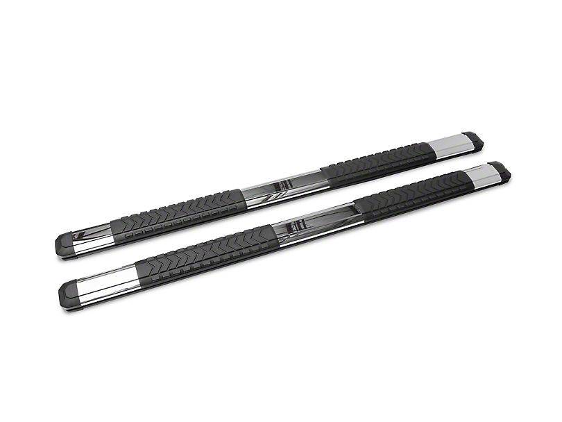 Barricade Saber 5 in. Aluminum Side Step Bars - Stainless Cover Plates (2019 Sierra 1500 Crew Cab)