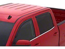 In-Channel Ventvisor Window Deflectors; Front and Rear; Dark Smoke (14-18 Sierra 1500 Crew Cab)