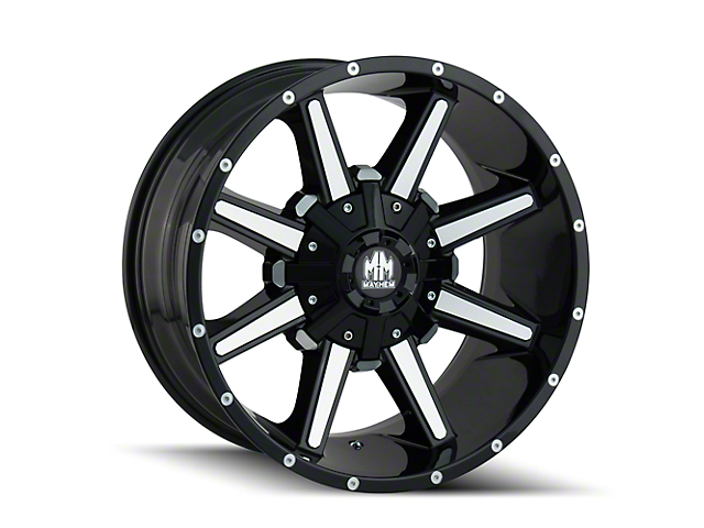 Mayhem Wheels Arsenal Gloss Black Machined 6-Lug Wheel; 18x9; 18mm Offset (15-20 F-150)