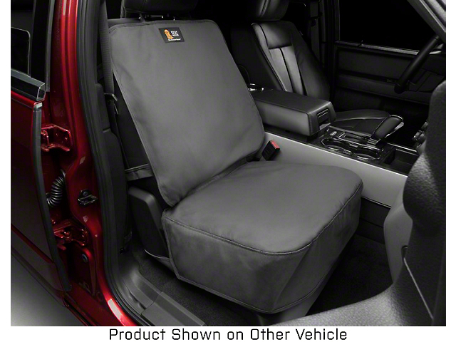 Weathertech Front Seat Protector; Black (07-21 Tundra w/ Bucket Seats)