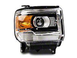 Factory Style Projector Headlights; Chrome Housing; Clear Lens; Passenger Side (14-18 Sierra 1500)