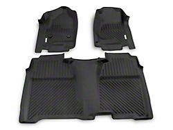 Proven Ground Precision Molded Front and Rear Floor Liners; Black (14-18 Sierra 1500 Crew Cab)